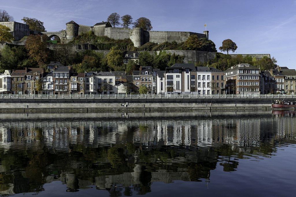 La citadelle et la Meuse depuis Jambes