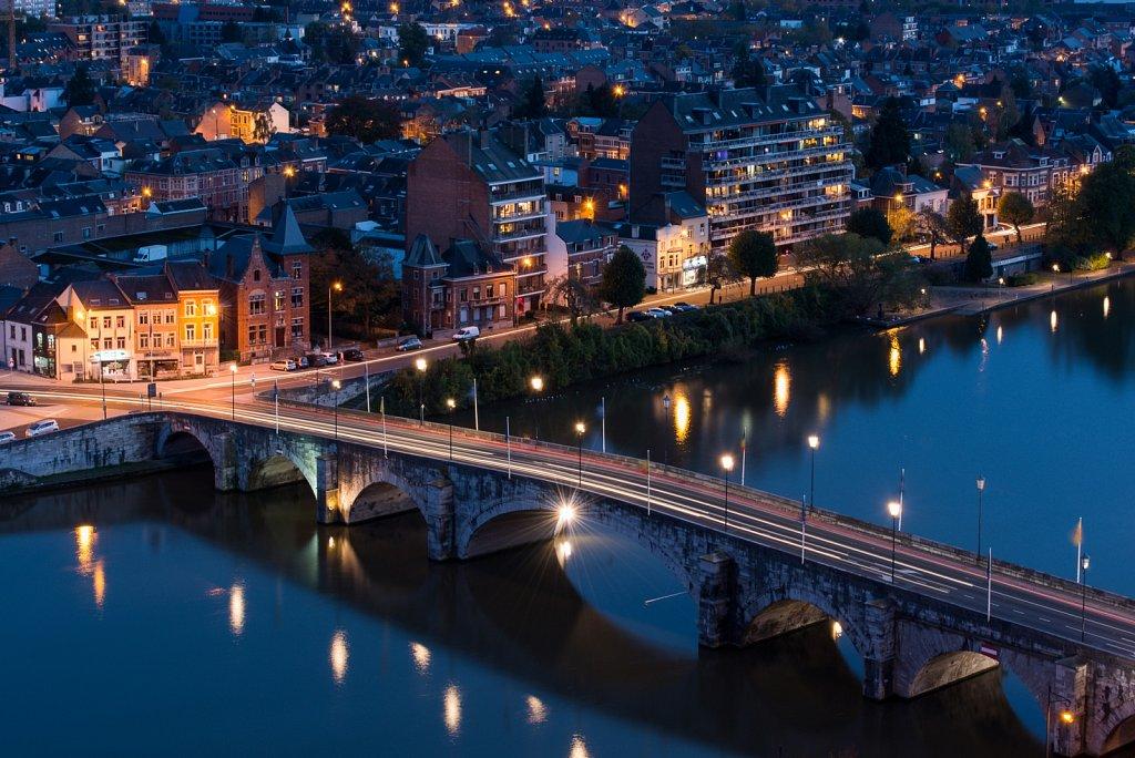 La Meuse et le pont de Jambes depuis la Citadelle